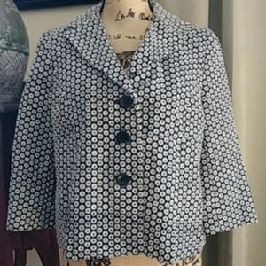 Ann Taylor Black and White Jacket